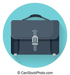 Businessman briefcase with leather lock vector illustration...