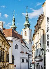 St. Michael church in Brno, Moravia, Czech republic....