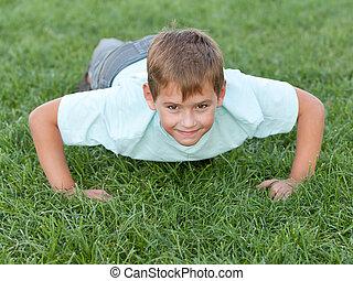 Training athletic kid