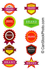 retro brand tags - illustrations of a different badges retro...