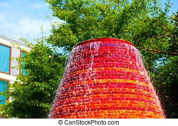 Fountain on a sunny summer day in the park
