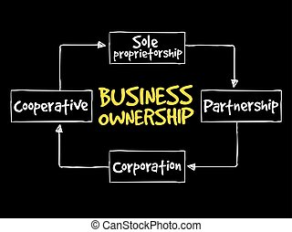 Business ownership mind map concept background