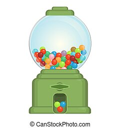 Gumball machine toy or commercial device, which dispenses...