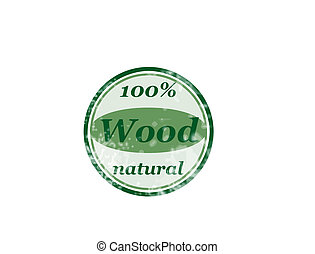 100 wood - 100 natural grunge rubber stamp with text