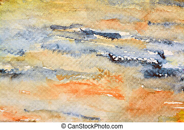 watercolor painting - colored sample of a watercolor...
