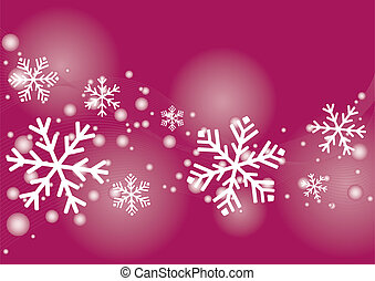 Christmas, XMas - Pink and white card design for christmas.