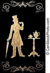 XIX century. Gold foil