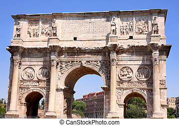 Arco de Constantino in Rome, Italy - details of Arco de...