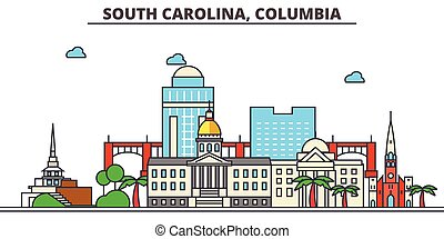 South Carolina, Columbia.City skyline: architecture,...