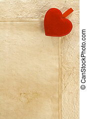 background with heart and old paper - background series:...