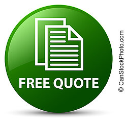 Free quote green round button