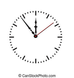 Dial of hours.Vector illustration