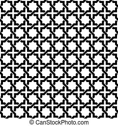 Seamless interlocking geometric pattern background