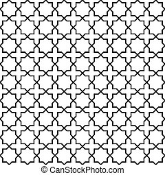 Seamless interlocking geometric pattern background -...