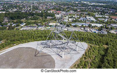Aerial view of Tetraeder on the former mine dump in Bottrop