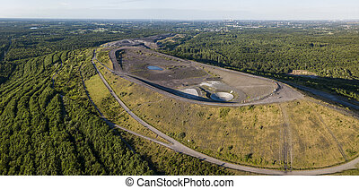 Aerial view of Halde Haniel - former largest mine dump in the Ruhr area