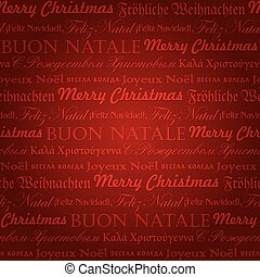 seamless christmas pattern (vector) - seamless multilingual...