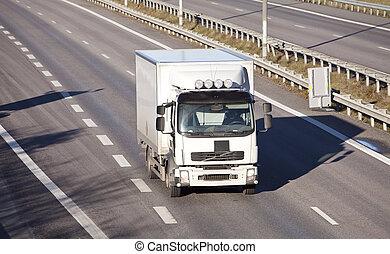 lastbil, Motorväg