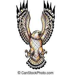 Osprey Swooping Front Tattoo