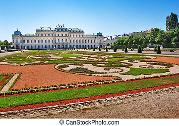 Belvedere palace in Vienna, Austria - Photo of Belvedere...