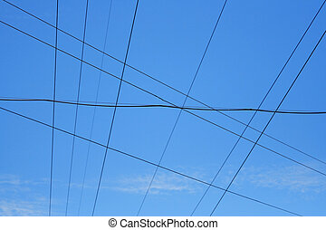 Electrical Wires - The crossing of the wires in the...