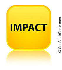 Impact special yellow square button - Impact isolated on...