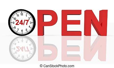 Open 24/7  - Open 24/7