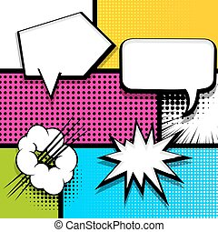 Pop art strip comic text speech bubble bomb - Pop art comics...
