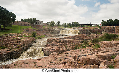 Water Flows Sioux Falls South Dakota - The Big Sioux River...