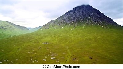 Aerial, Glen Etive, Scotland - Graded Version - Graded and...