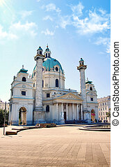 Karlskirche in Vienna, Austria - Photo of Karlskirche in...