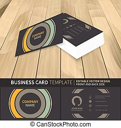Business card template. Creative vector mock-up with front...