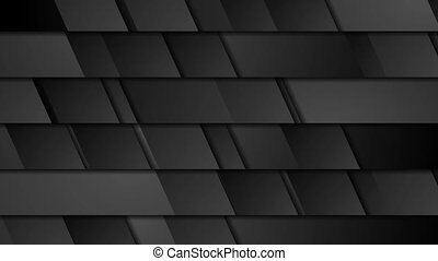 Black geometric tech abstract video animation - Black...