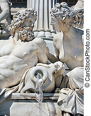 Detail of Athene fountain, Vienna - Detail of Athene...