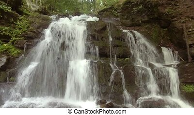 Shypit waterfall on the Pylypets River, Zakarpattia Oblast...