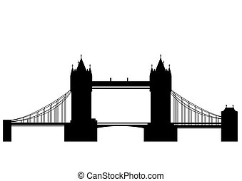 Tower bridge - vector - Tower Bridge is a combined bascule...