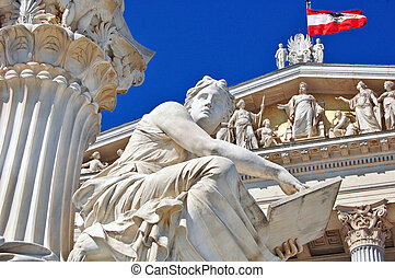 Austrian parliament in Vienna - Photo of Austrian...