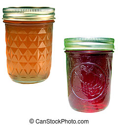 apple jelly and strawberry jelly - apple jelly and...