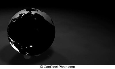 3d Glassy Earth Animation AlphaMask - Glassy Black and...