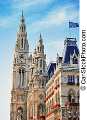 Town hall in Vienna, Austria - Photo of Town hall in Vienna,...