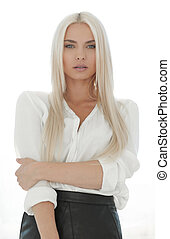 Young business woman thinking about problems. - business...