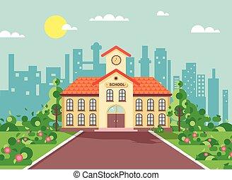 Vector illustration cartoon school - Stock vector...