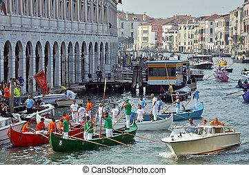 Boat Race in Venice