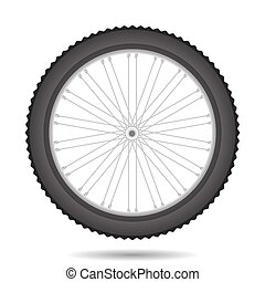 Bicycle Wheel Icon Isolated on White Background