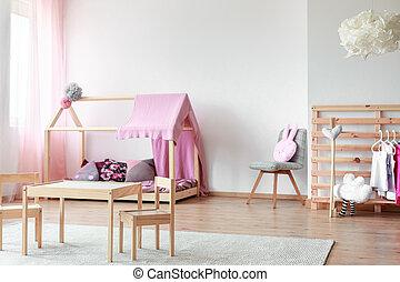 Scandinavian style girls bedroom