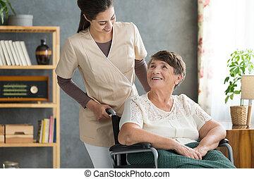 Caregiver in retirement home - Concerned caregiver checking...