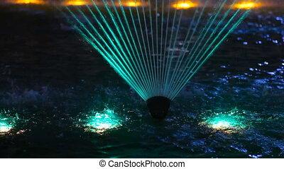 Light colour fountain. - Light fountain in the Astana,...
