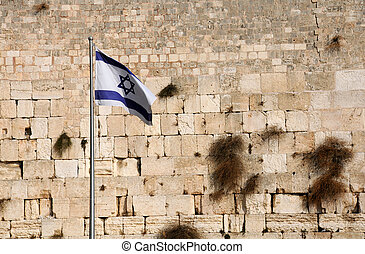 State Flag oF Israel - State flag of Israel against the...