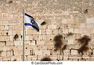 estado, bandera, de, israel