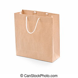 Shopping bag - Shopping bag made from brown recycled paper....